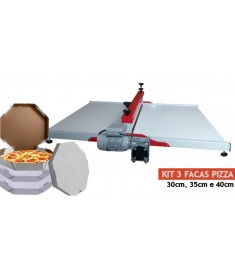 Máquina De Corte E Vinco  + kit 3 Facas De Corte Para Caixa De Pizza Média ( 30cm - 35cm e 40cm)