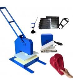 Máquina De Fazer Chinelo Corte Duplo + Kit 22 Facas Chinelo