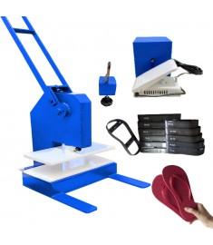 Máquina De Fazer Chinelo Manual + kit 11 facas chinelo