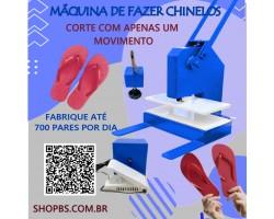 Maquina De Fazer Chinelo Manual Corte Unico
