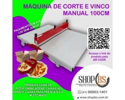 maquina de fazer caixa de pizza