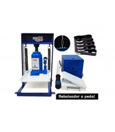 Máquina De Fazer Chinelo Hidráulica 8 Toneladas + Kit 6 Facas Qualquer Modelo
