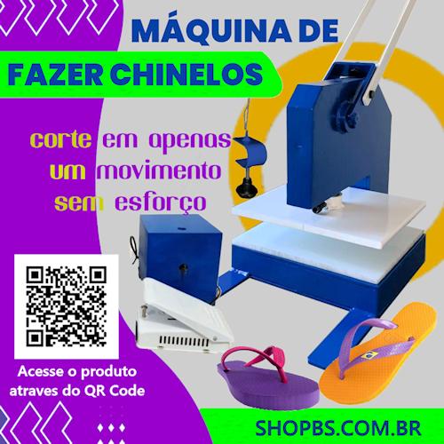 Máquina de fazer chinelo  Corte Duplo - SHOPBS Máquinas